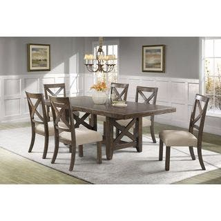 Picket House Furnishings Francis 7PC Dining Set-Table & 6 X-Back Wooden Dining Chairs https://ak1.ostkcdn.com/images/products/12821403/P19589125.jpg?impolicy=medium