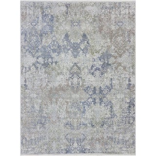 Abram Mushroom Off-white Hand-knotted Wool/Silk Area Rug (6' x 9')
