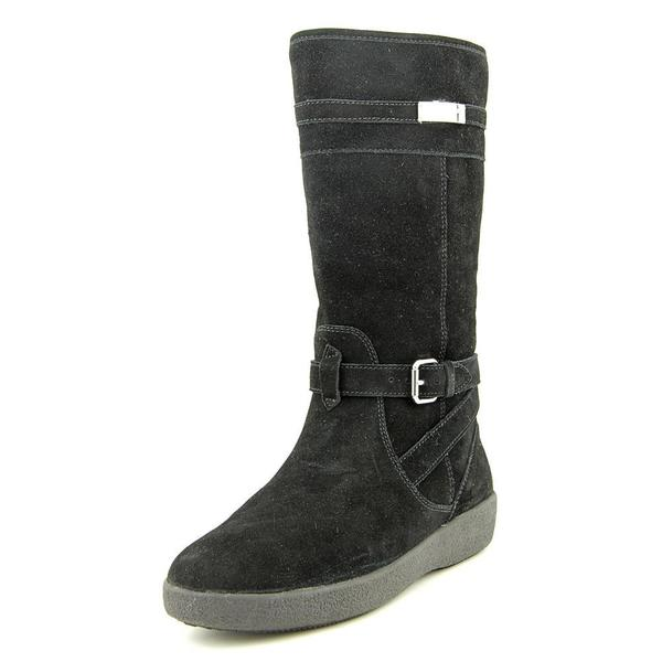 Tallulah Black Suede Boots - Overstock