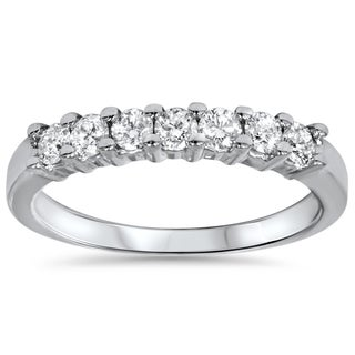 14k White Gold 1/2ct TDW Diamond Wedding Ring (I-J,I2-I3)