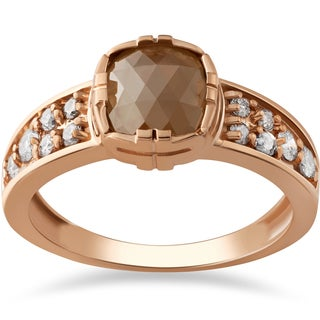 14k Rose Gold 1 1/4ct TDW Raw Rough Cut Diamond Slice Engagement Ring (I-J, I2-I3)