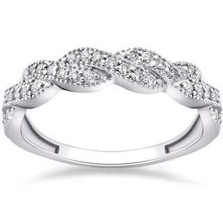 Eco Freindly 14k White Gold 1/3 ct TDW Lab Grown Diamond Infinity Vintage Wedding Ring (F-G, SI1-SI2)