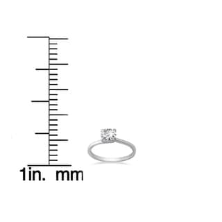 14k White Gold 1ct TDW Clarity Enhanced Diamond Solitaire Engagement Ring (H-I, SI2-I1)