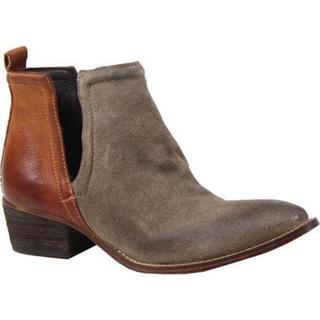 Women's Diba True Stop By Ankle Boot Dust/Cognac Suede/Leather