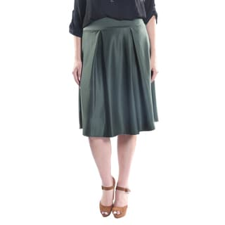 Hadari Women's Plus Size A-line Solid Color Skirt