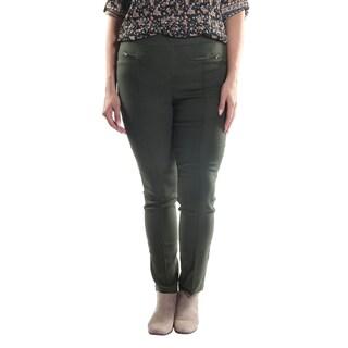 Hadari Women's Plus Size Slim Fit Dress Pants with 2 Frontal Zippers