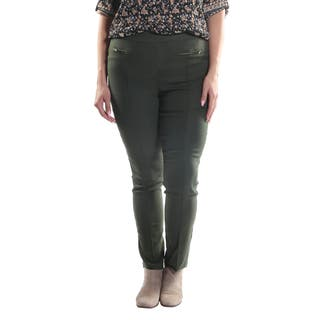 Hadari Women's Plus Size Slim Fit Dress Pants with 2 Frontal Zippers|https://ak1.ostkcdn.com/images/products/12823490/P19590950.jpg?impolicy=medium