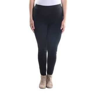 Hadari Women's Plus Size Skinny Leg Slim Fit Pants with Elastic Waistline.