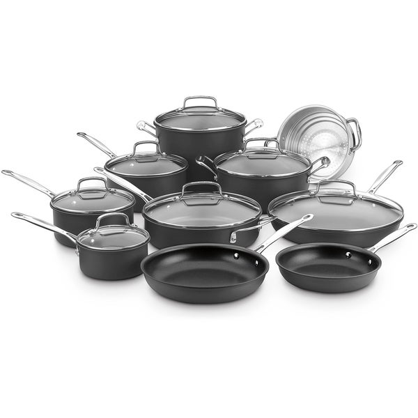 Cuisinart Chef's Classic Nonstick Hard Anodized 17-Piece Cookware Set, Black. Opens flyout.