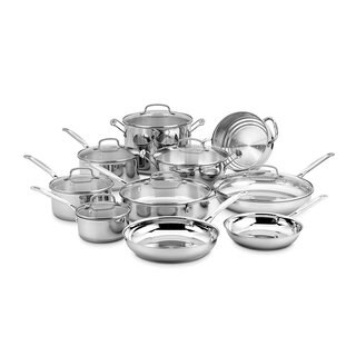 Stainless Steel 17-piece Cookware Accsset Chefs Classic