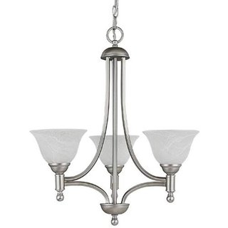Crown Lighting Transitional 3-light Matte Nickel Mini Chandelier