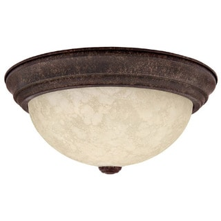 Crown Lighting Transitional 3-light Tortoise Flush Mount