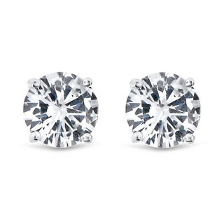 Meredith Leigh 14k Created White Sapphire Studs