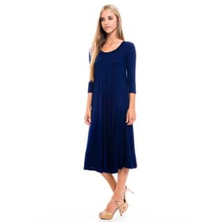 Women's Heather Rayon/Spandex Baby Doll Dress|https://ak1.ostkcdn.com/images/products/12825006/P19592188.jpg?impolicy=medium