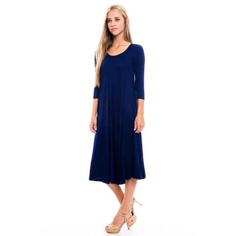 Women's Heather Rayon/Spandex Baby Doll Dress