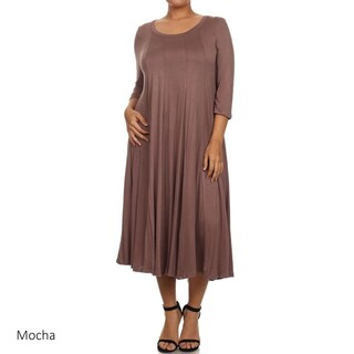 Women's Plus Size Solid Dress (More options available)