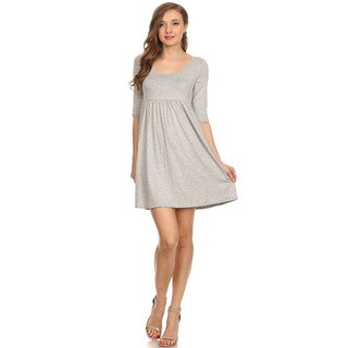 Women's Solid Rayon Baby Doll Dress