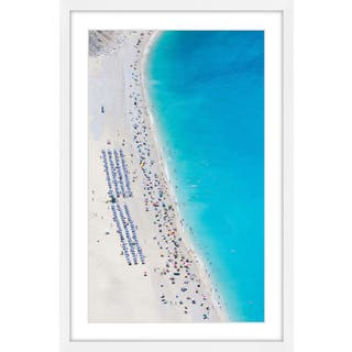 Marmont Hill - 'Beach Gathering' Framed Painting Print - Multi