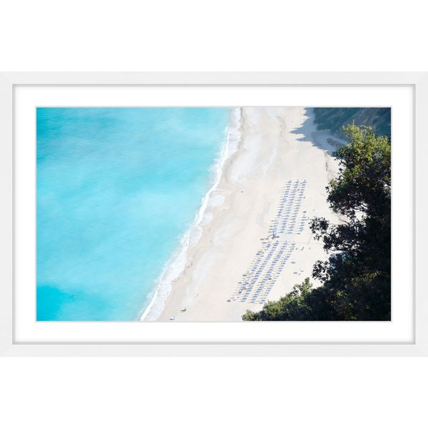 Marmont Hill - 'White Sandy Beach' Framed Painting Print