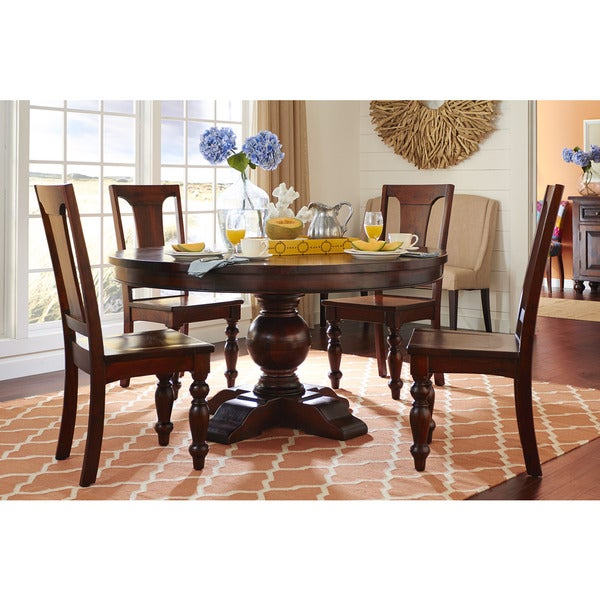 shop chatham downs solid mango wood round dining table free shipping today. Black Bedroom Furniture Sets. Home Design Ideas