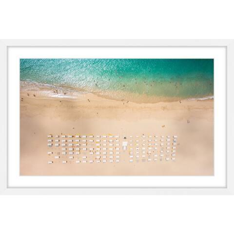 Marmont Hill - Handmade Beach Goers Framed Print
