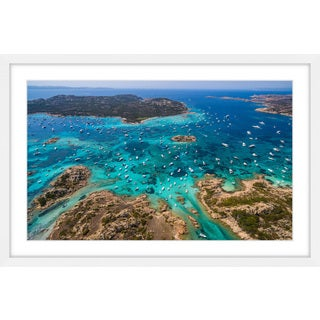 Marmont Hill - 'Boat Party' by Francesco Cattuto Framed Painting Print