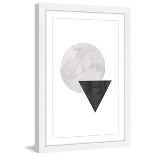 Marmont Hill - 'Circle Triangle' by Diana Alcala Framed Painting Print - Multi
