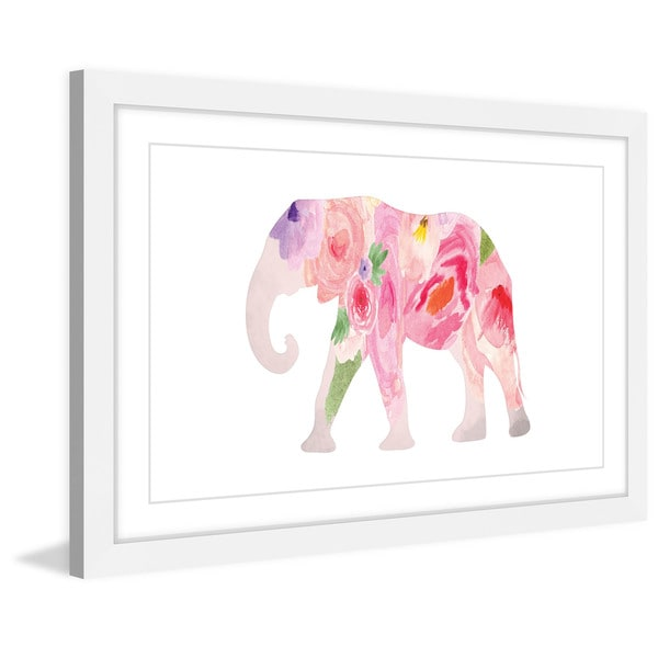 Shop Marmont Hill - \'Spring Elephant\' by Diana Alcala Framed ...