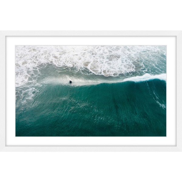 Marmont Hill - Handmade Catch that Wave Framed Print. Opens flyout.