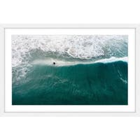Marmont Hill - 'Catch that Wave' by Karolis Janulis Framed Painting Print - Multi