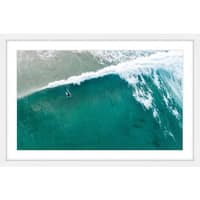 Marmont Hill - 'Riding the Wave' by Karolis Janulis Framed Painting Print - Multi