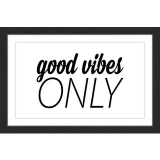 Marmont Hill - 'Good Vibes Only' by Diana Alcala Framed Painting Print