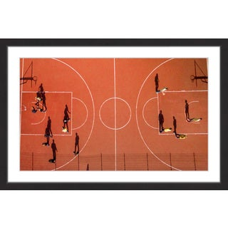 Marmont Hill - 'Basketball Court' by Karolis Janulis Framed Painting Print