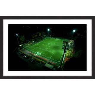 Marmont Hill - 'Soccer Field' by Karolis Janulis Framed Painting Print