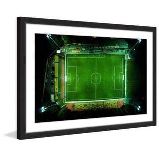 Marmont Hill - 'Soccer from Above' by Karolis Janulis Framed Painting Print