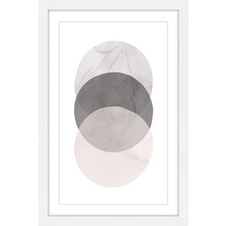 Marmont Hill - 'Three Circles' by Diana Alcala Framed Painting Print