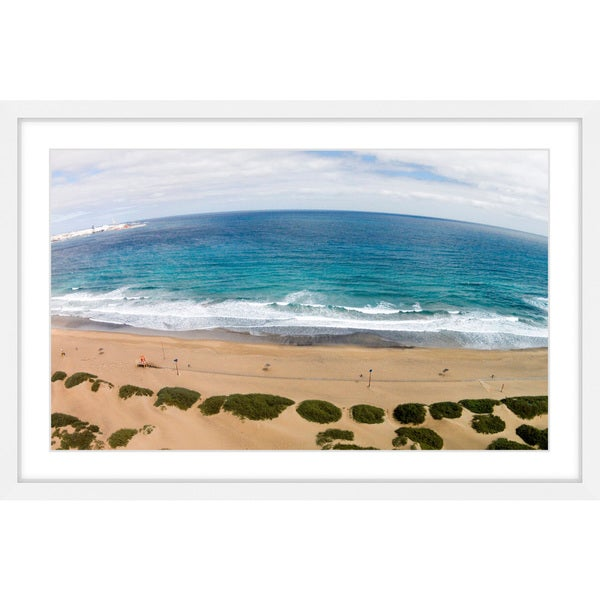 Marmont Hill - 'Peaceful Beach' by Karolis Janulis Framed Painting Print
