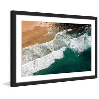 Marmont Hill - 'Waves Crashing' by Karolis Janulis Framed Painting Print