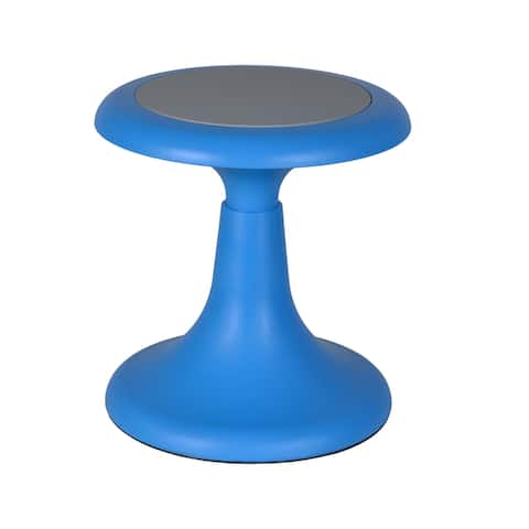 Regency Seating Glow Red/Blue Plastic and Metal 13-inch Stool