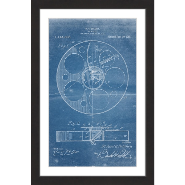 Marmont hill film reel 1915 blueprint by steve king framed marmont hill x27film reel 1915 blueprintx27 by steve malvernweather Image collections