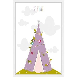 Marmont Hill - 'Floral Tee Pee' by Karen Zukowski Framed Painting Print