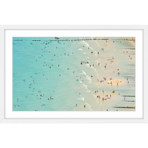 Marmont Hill - Handmade Fun at the Beach Framed Print