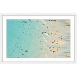 Marmont Hill - 'Fun at the Beach' Framed Painting Print - Multi