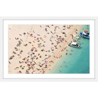 Marmont Hill - 'Boat Party' Framed Painting Print - Multi