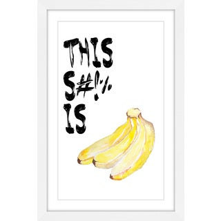 Marmont Hill - 'Bananas' by Diana Alcala Framed Painting Print
