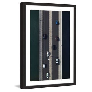 Marmont Hill - 'One Blue Car' by Shoayb Hesham Framed Painting Print