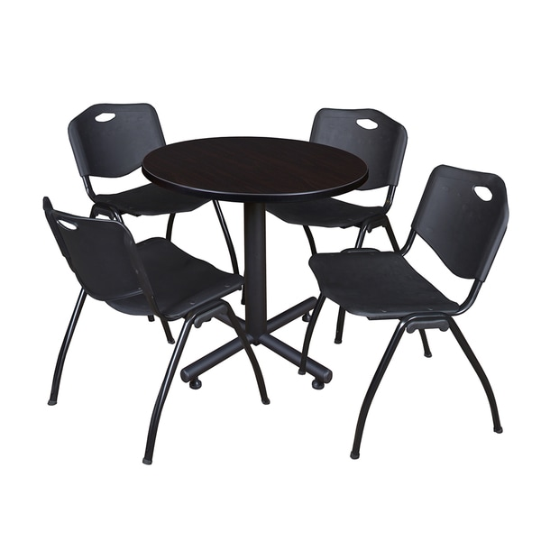 Shop Regency Seating Kobe Black Laminate And Steel Inch Round - 30 inch round office table