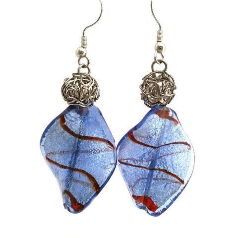 Heavenly Beads Vintage Lampwork Earrings - Multi