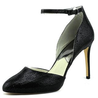 Michael Michael Kors Women's Georgia Ankle Strap Black Textile Dress Shoes