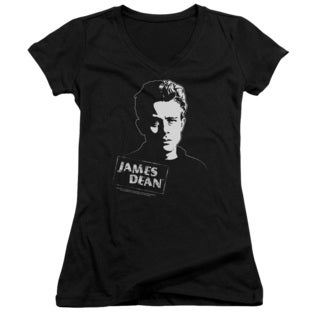 Dean/Intense Stare Junior V-Neck in Black